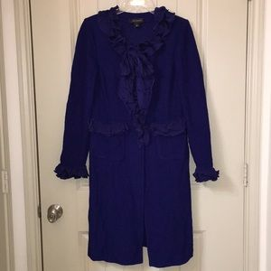 ST. JOHN Purple Santana Knit Blazer Sweater Sz 8